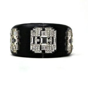 Alexis Bittar Art Deco Crystal Baguette Lucite